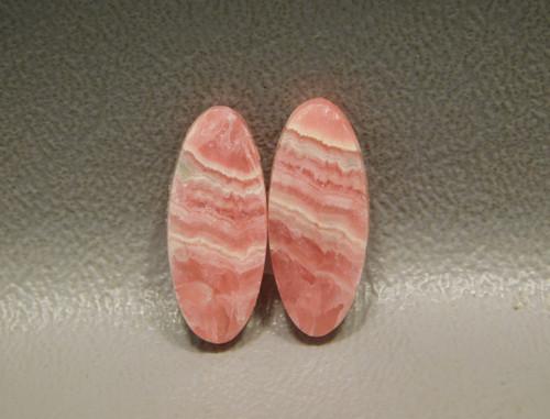 Natural Rhodochrosite Gemstone Rhodochrosite Cabochon Pair Pink Rhodochrosite Size 14 x 16 x 4 mm Loose Rhodochrosite Baguette Pair ET 2824