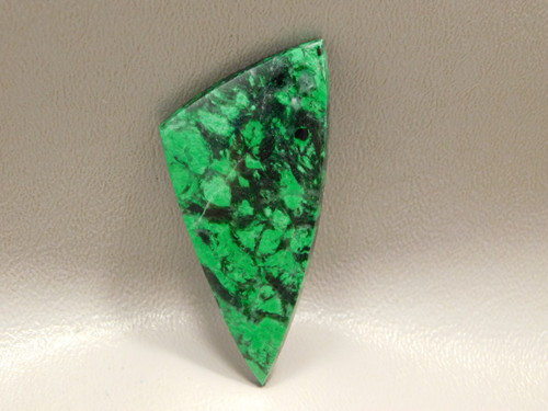 Maw Sit Sit Vibrant Green Jade Black Triangle Rare Stone Cabochon #19