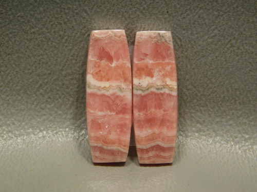 Pink Cabochons Natural Stones Rhodochrosite Matched Pair Bars #6