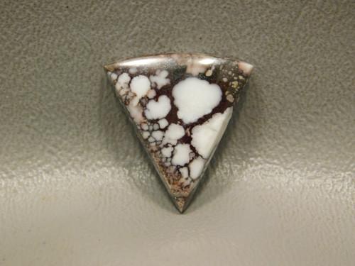 Wild Horse Loose Stone Triangle White Brown Cabochon #13