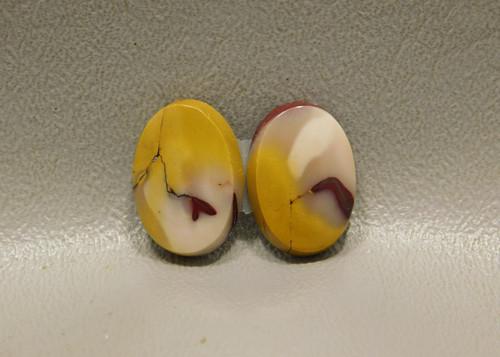 Mookaite Jasper Matched Pairs Yellow Stones Cabochons #5