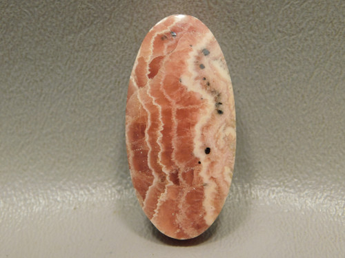 Rhodochrosite Pink Side Drilled Stone Oval Bead Pendant Argentina #3