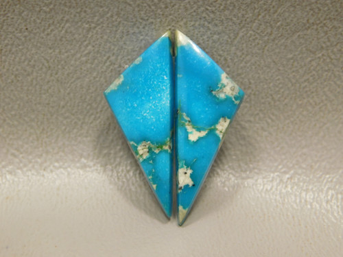 Turquoise Gemstone Matched Pair for Earrings Cabochons Triangle #19