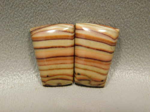 Wave Dolomite Jewelry Earring Stone Cabochons Matched Pairs #12