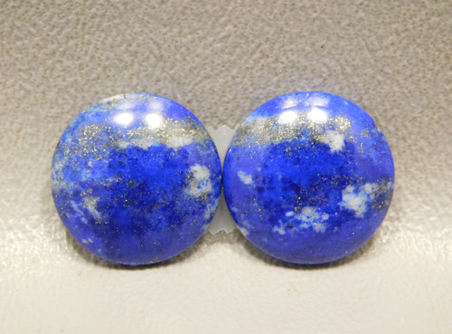 Cabochons Natural Stones Lapis Pyrite 17 mm Rounds Matched Pairs #10