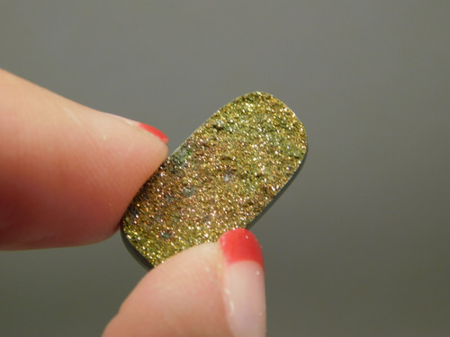 Natural Rainbow Pyrite Druse Stone Cabochon #14