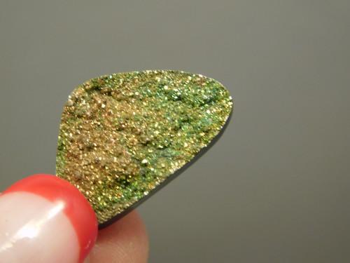 Natural Rainbow Pyrite Druse Jewelry  Cabochon Stone #19