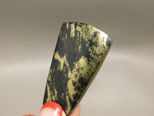 Apache Gold Cabochon Jerome Arizona Trapezoid Black Stone #3