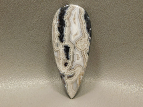 Crazy Lace Agate Pear Long Teardrop Loose Stone Cabochon #3