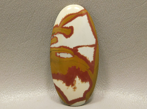Semiprecious Stone Cabochon Large Oval Red Owyhee Picture Jasper #16