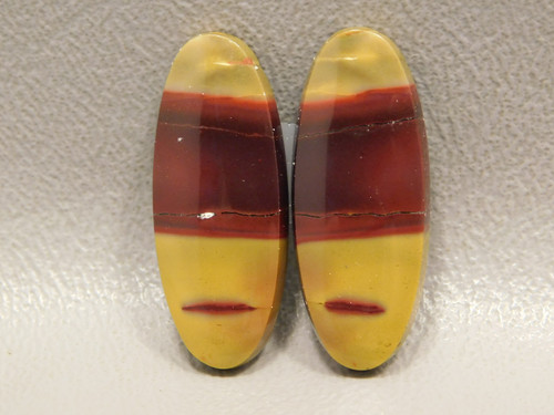 Mookaite Cabochons Red Yellow Mook Jasper Matched Pairs Mookite #23