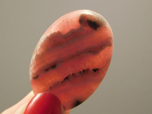 Pink and White Rhodochrosite Semiprecious Cabochon Stone #4