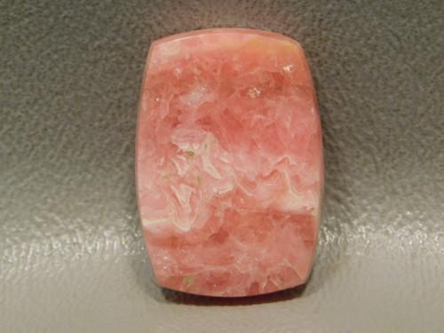 Pink Cabochon Bowed Rectangle Jewelry Stone Rhodochrosite #10