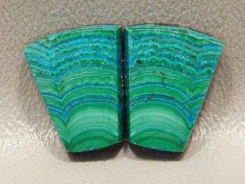 Chrysocolla Malachite Matched Pairs Loose Stones Cabochons #23