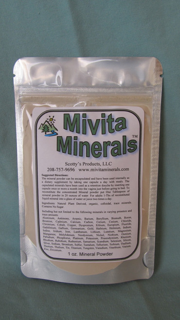 Mivita Minerals Concentrated pwd. 1 oz.