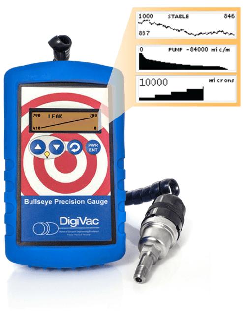 Bullseye Precision Vacuum Gauge with Real-Time Analytics