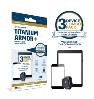 Certified Nano Liquid Screen Protector with $500 Screen Repair Warranty Add-On Option