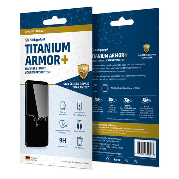 Titanium Armor Plus, Liquid Glass Screen Protector with $100 Screen Guarantee