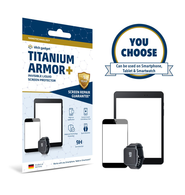 Certified Nano Liquid Screen Protector with $100 Screen Repair Warranty