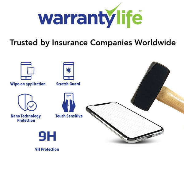 Certified Nano Liquid Screen Protector with $500 Screen Repair Warranty Add-On Option by Warranty Life