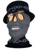 08-0 Skull Head with Hat from Ino Schaller Paper Mache Candy Container