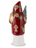 1949 Burgundy Santa from Ino Schaller Paper Mache Candy Container