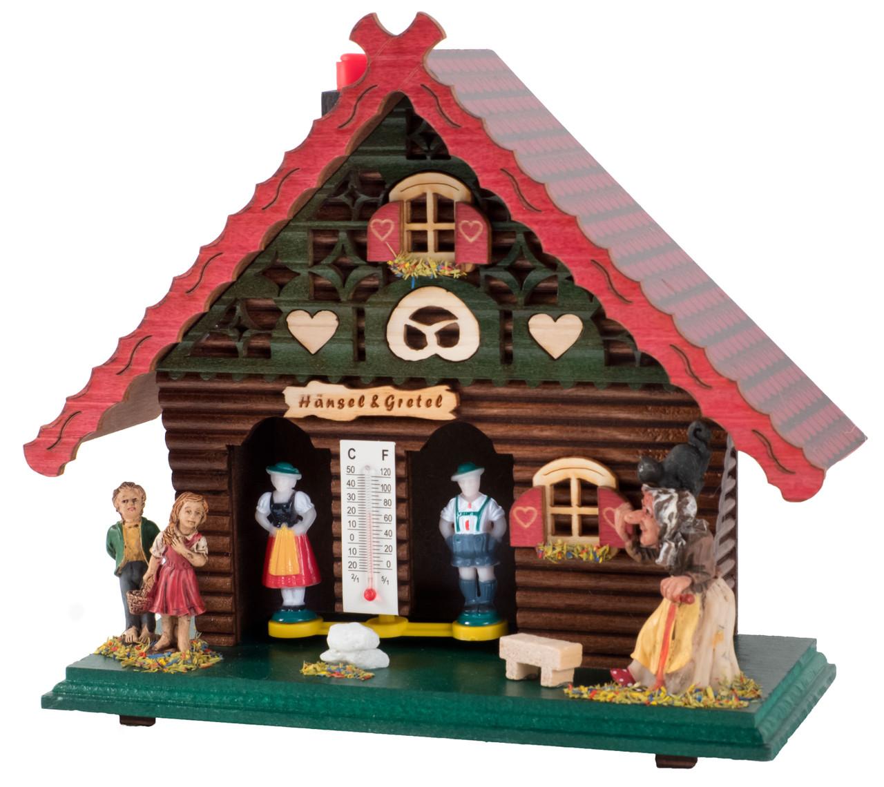 Vintage Hansel /& Gretel Germany Wood Weather House