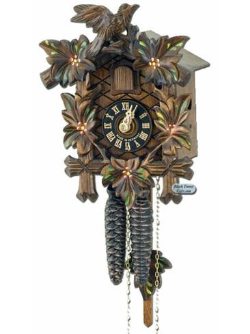 100-Blumen 5 Leaf 1 Bird 1Day Painted Cuckoo Clock