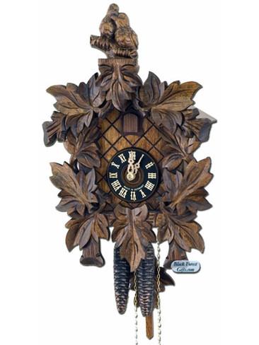 126-3 Carved Love Birds 1 Day Cuckoo Clock