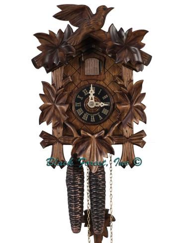 100-1-9BF 5 Leaf Mechanical 9 Inch 1 Day Cuckoo Clock