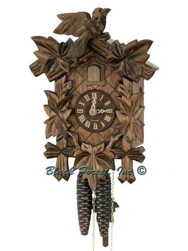 100-1-12BF 5 Leaf 1 Bird 1Day Cuckoo Clock