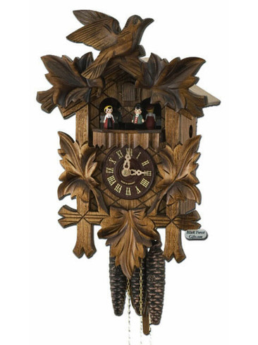 300-1-14BF Carved Musical 1 Day Cuckoo Clock