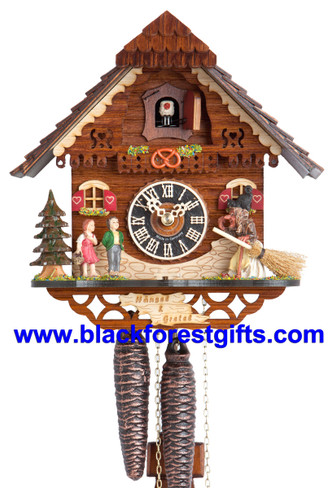 1213 Chalet Hansel and Gretel 1 Day Cuckoo Clock