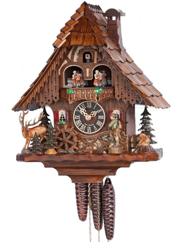 6209T Musical Hunter Chalet 1 Day Cuckoo Clock