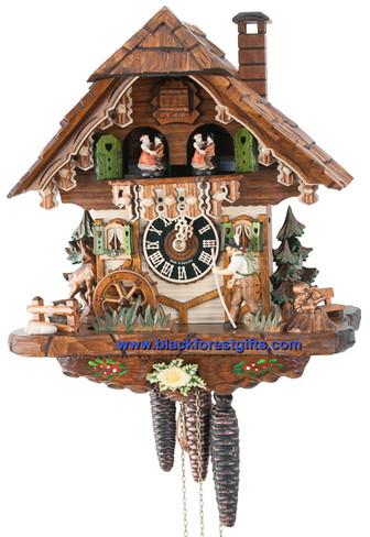 6752T Musical Wanderer Chalet 1 Day Cuckoo Clock