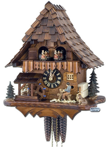 6266T Musical Shingle Maker Chalet 1 Day Cuckoo Clock