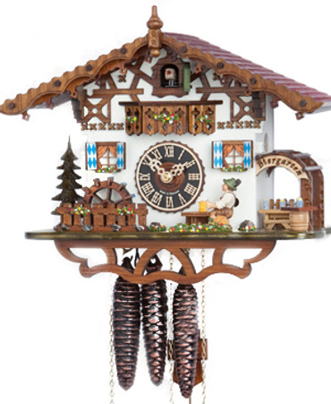 665M Musical Bavarian Beer Hall Chalet 1 Day Cuckoo Clock