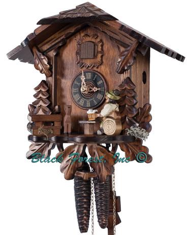 434-BFG Beer Drinker Chalet 1 Day Cuckoo Clock