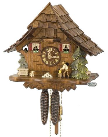 492-BFG Wood Chopper Chalet 1 Day Cuckoo Clock