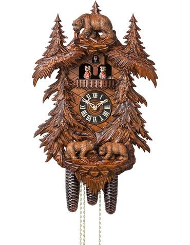 86709-5TKO Hones 8 Day Carved Bears Cuckoo Clock