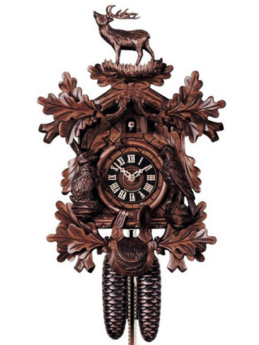 8248-4 Hones Carved Hunters 8 Day Cuckoo Clock