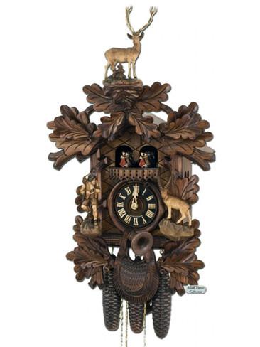 8682-5TKO Hones 8 Day Carved Hunters Cuckoo Clock