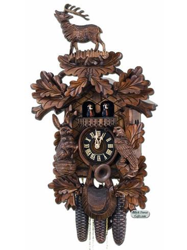 86248-5Tnu Hones 8 Day Standing Stag Cuckoo Clock