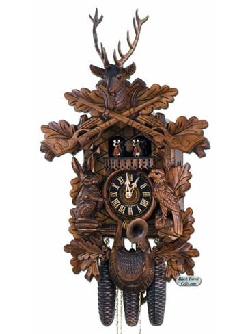 8634-5TNU Hones Hunters 8 Day Cuckoo Clock