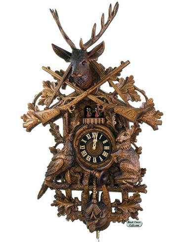 8634-9TNU Hones Large 8 Day Hunters Cuckoo Clock