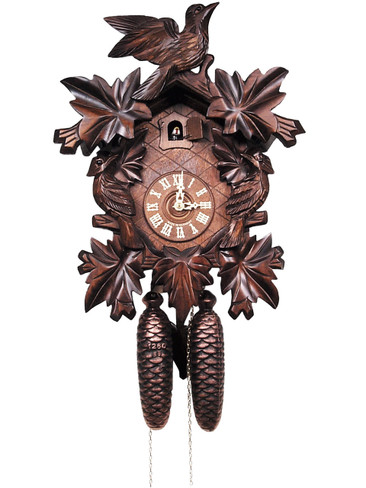 200-8-20BF 8 Day Carved Black Forest Cuckoo Clock
