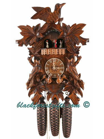 634-8MT 8 Day Musical Carved Cuckoo Clock