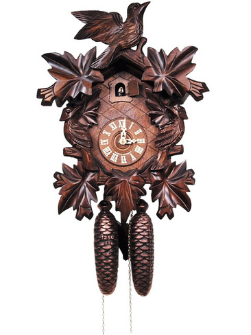200-8-16BF 8 Day Carved Black Forest Cuckoo Clock