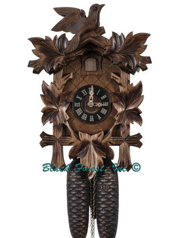 100-8-14BF 8 Day Carved Black Forest Cuckoo Clock