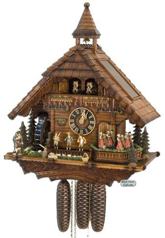 86200T Hones 8 Day Real Water Wheel Cuckoo Clock